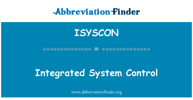ISYSCON: Integrated System Control