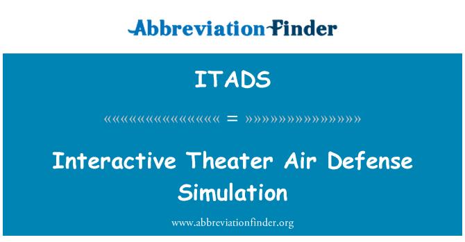 ITADS: Interactive Theater Air Defense Simulation