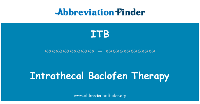 ITB: Intrathecal Baclofen Therapy