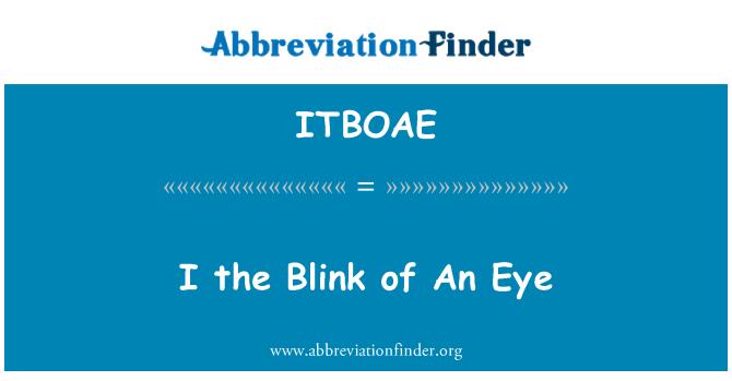 ITBOAE: I the Blink of An Eye