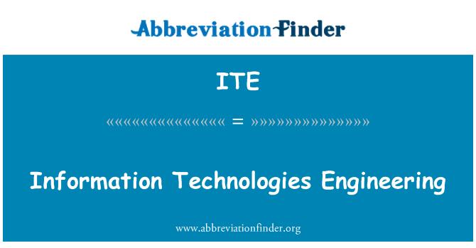 ITE: Information Technologies Engineering