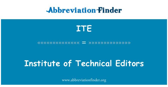 ITE: Institute of Technical Editors