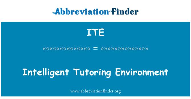 ITE: Intelligent Tutoring Environment