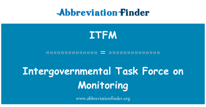 ITFM: Intergovernmental Task Force on Monitoring