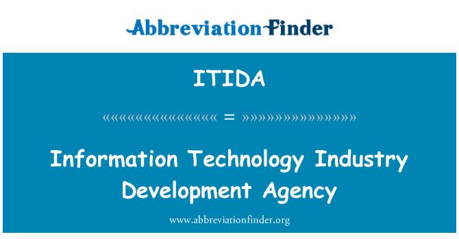 ITIDA: Bilgi teknolojisi sanayi Kalkınma Ajansı