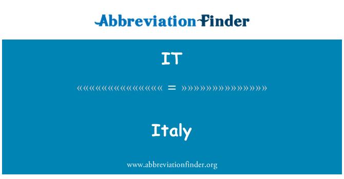 IT: Italy