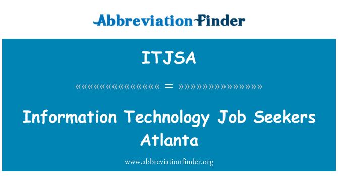 ITJSA: Information Technology Job Seekers Atlanta