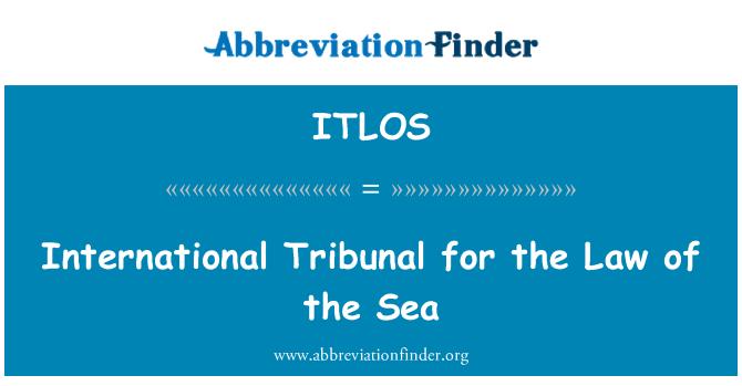 ITLOS: Uluslararası Mahkeme Deniz Hukuku
