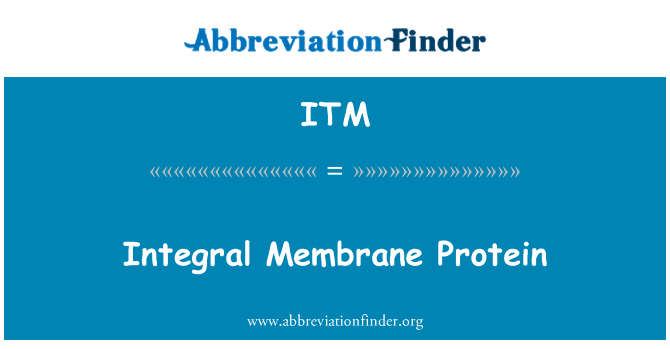 ITM: Integral Membrane Protein
