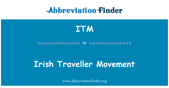 ITM: Irish Traveller Movement