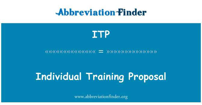 ITP: Individual Training Proposal