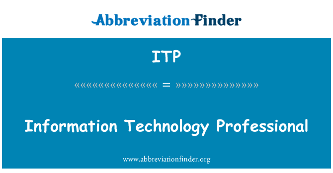 ITP: Information Technology Professional