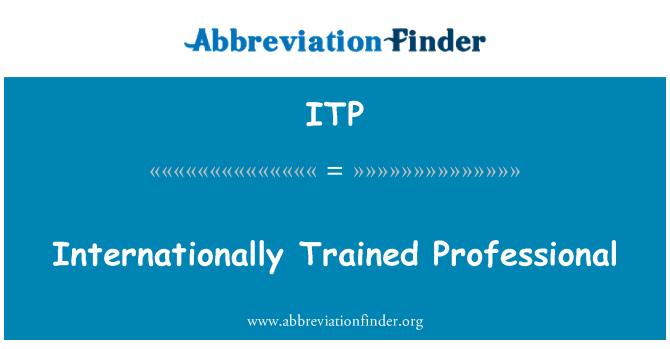 ITP: Internationally Trained Professional