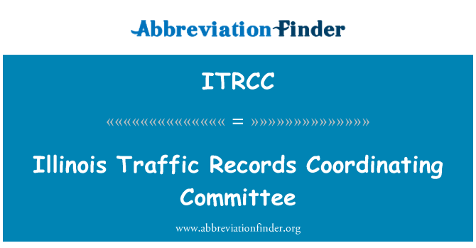 ITRCC: Illinois Traffic Records Coordinating Committee