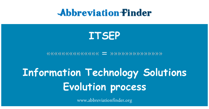 ITSEP: Information Technology Solutions Evolution process