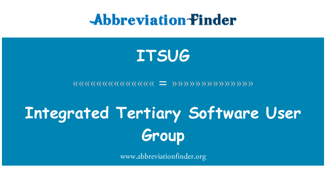 ITSUG: Integrated Tertiary Software User Group
