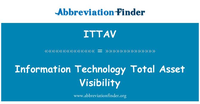 ITTAV: Information Technology Total Asset Visibility