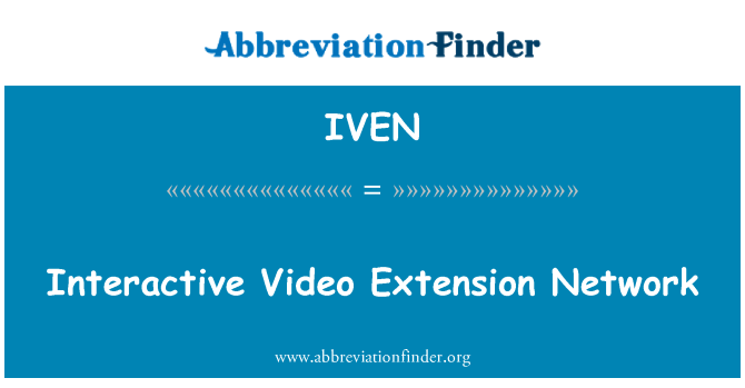 IVEN: Interactive Video Extension Network