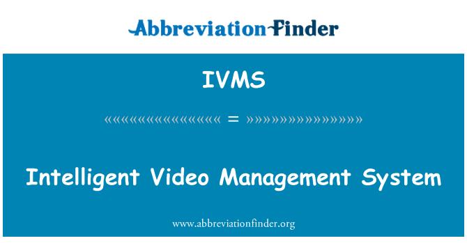 IVMS: Sistema de gestión de vídeo inteligente