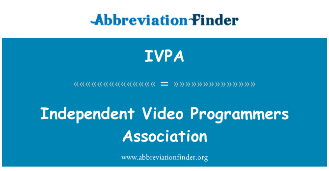 IVPA: Independent Video Programmers Association