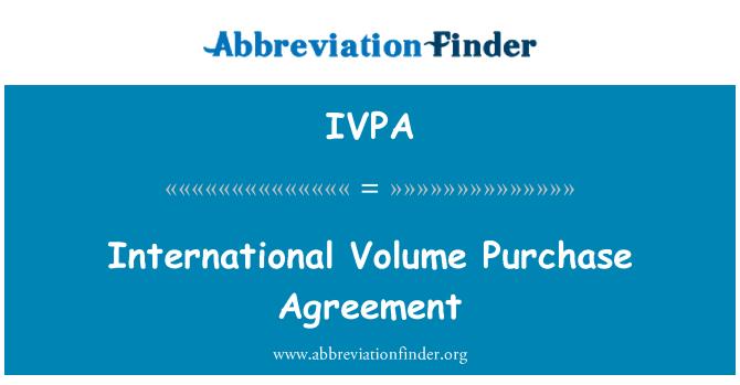 IVPA: Contrato de compraventa internacional volumen
