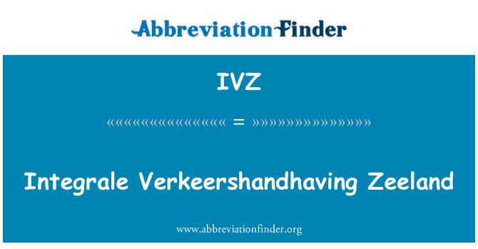 IVZ: Integrale Verkeershandhaving Zeeland