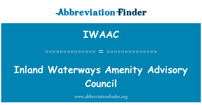 IWAAC: Inland Waterways Amenity Advisory Council