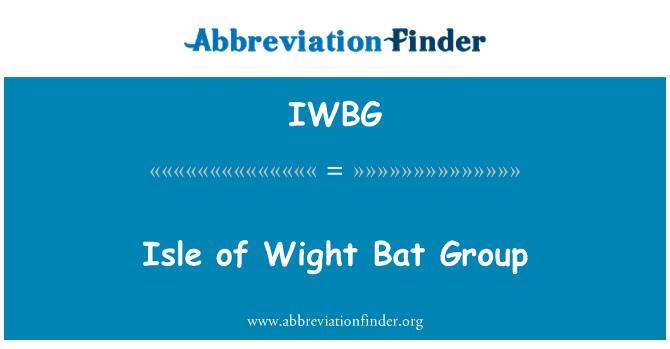 IWBG: 怀特岛的蝙蝠群