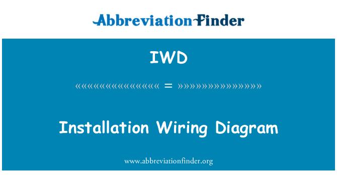 IWD: Installation Wiring Diagram