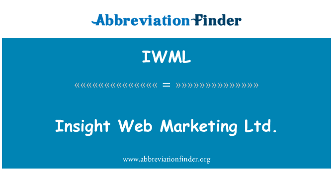IWML: Insight Web Marketing Ltd.