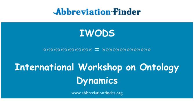 IWODS: Rahvusvahelise seminari ontoloogia dünaamika