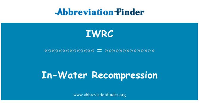 IWRC: Su yeniden sıkıştırma