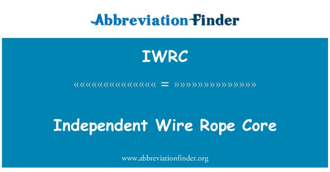 IWRC: Bağımsız çelik halat çekirdeği