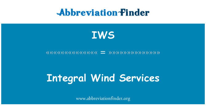 IWS: Integral Wind Services