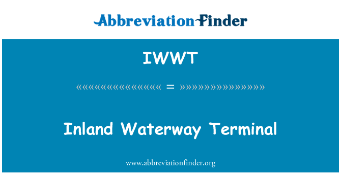 IWWT: Inland Waterway Terminal