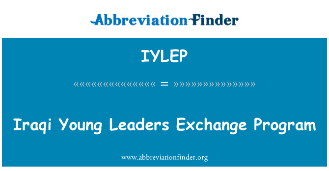 IYLEP: Iraqi Young Leaders Exchange Program