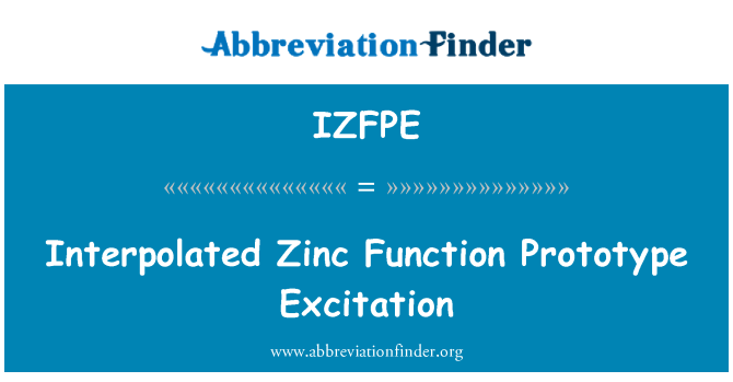 IZFPE: Interpolated Zinc Function Prototype Excitation