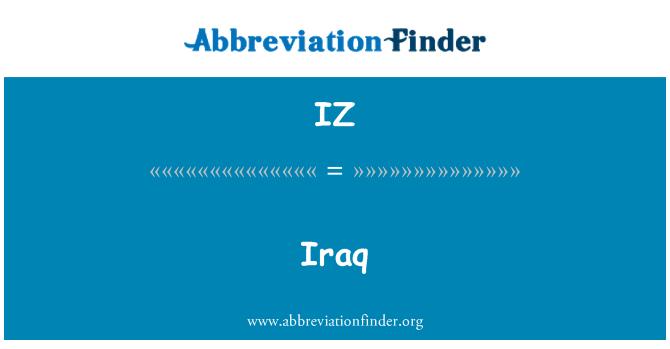 IZ: Iraq