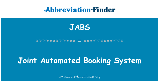 JABS: Joint Automated Booking System