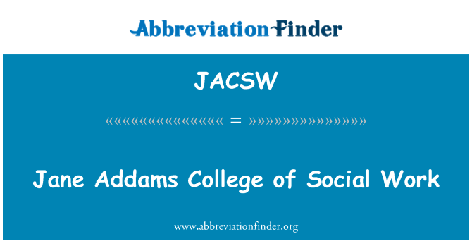 JACSW: Jane Addams College of Social Work