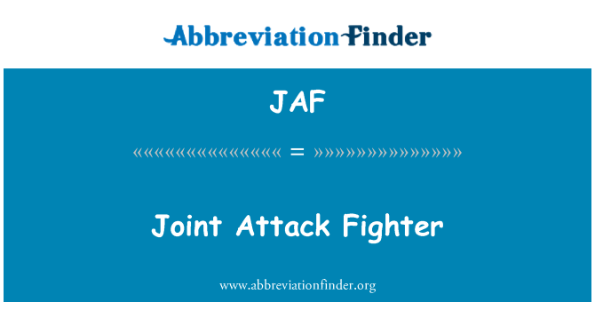 JAF: Joint Attack Fighter