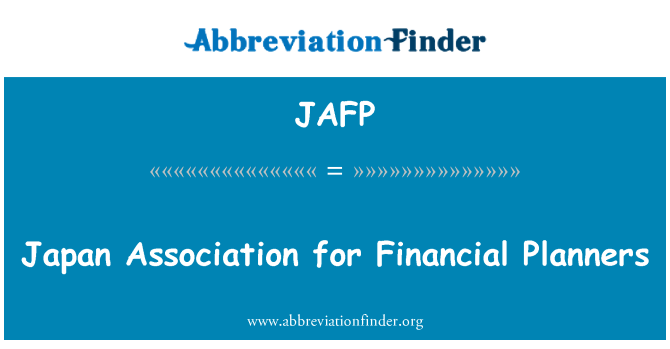 JAFP: Japan Association for Financial Planners