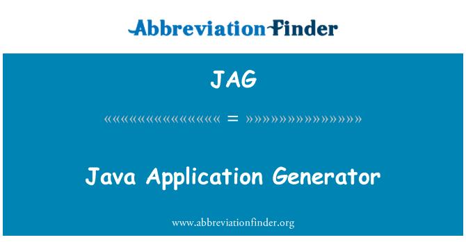 JAG: Java Application Generator