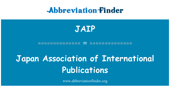JAIP: Japan Association of International Publications