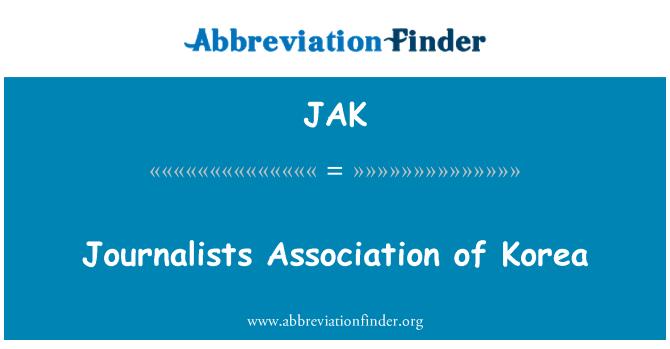 JAK: Journalists Association of Korea