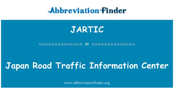 JARTIC: Centro de información de tráfico de camino de Japón