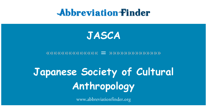 JASCA: Japanese Society of Cultural Anthropology
