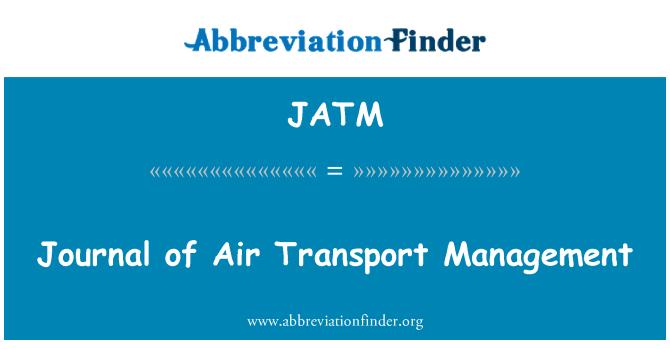 JATM: Journal of Air Transport Management