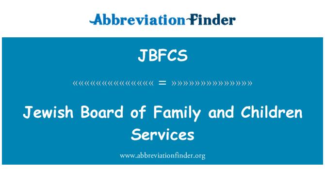 JBFCS: Juudi juhatuse pere ja laste teenused