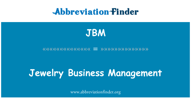 JBM: Jewelry Business Management